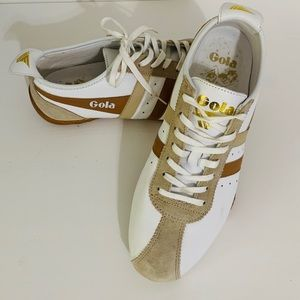 Gola Trainers Tan and White